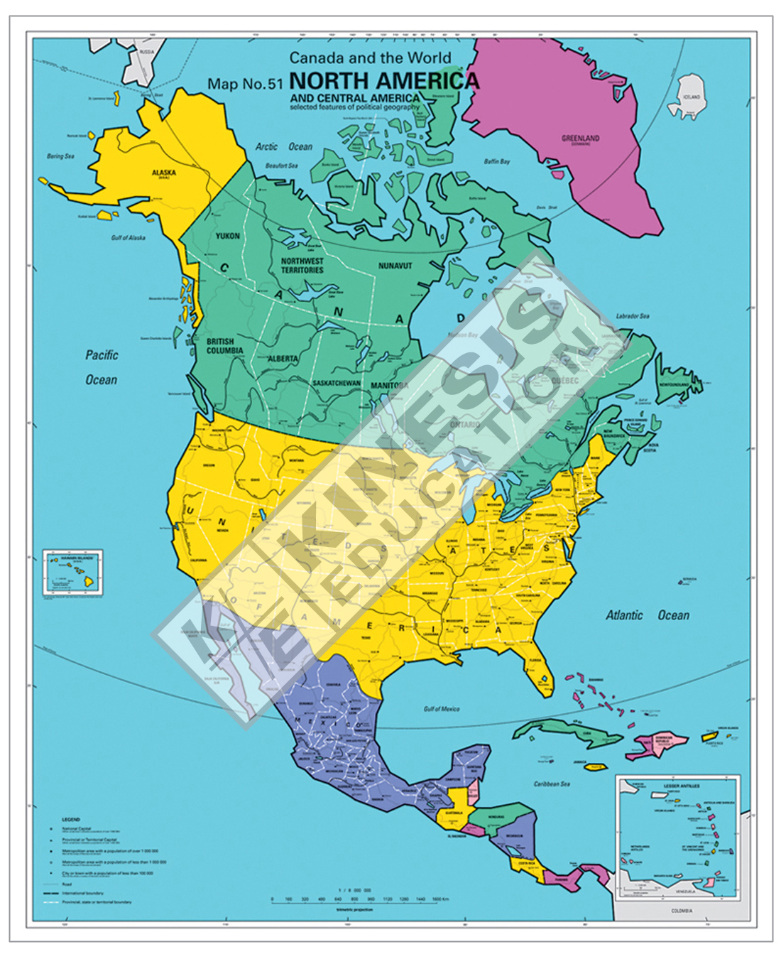Map Northwest Us And Canada Wall HD - Us canada mexico map